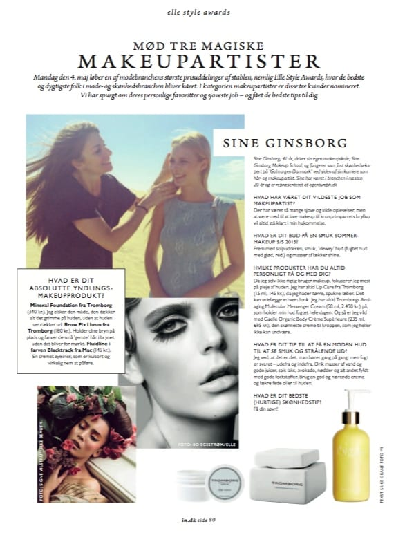 ELLE Style Awards, interview & makeup tips,