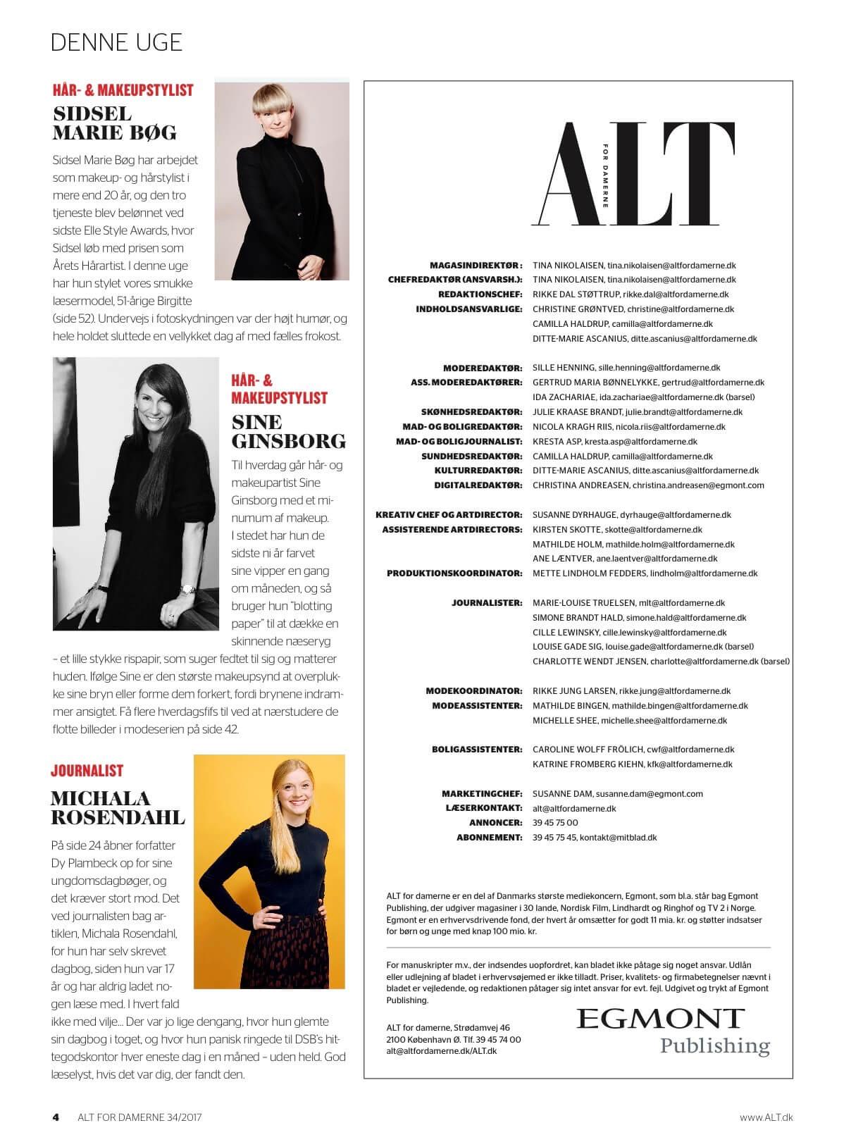 Interview med Hår og MakeUpStylisten Sine Ginsbog,