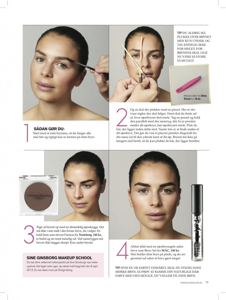 sådan får du perfekte bryn, Makeup Tips,