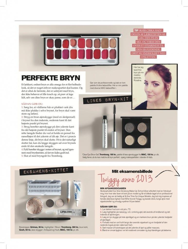 Guide til perfekte bryn, bryn kit , makeupskolen,