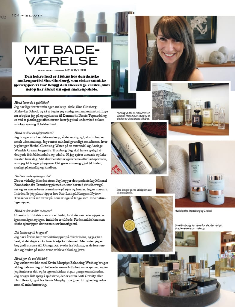 Interview med Cover-Sine Ginsborg, Makeup artist,