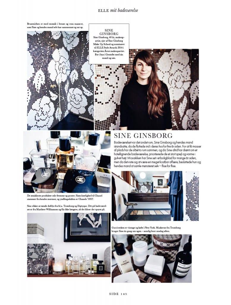 Interview med ELLE DK, Sine Ginsborg, Makeup artist, ELLE Style Awards,
