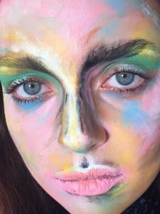 Malerisk ansigt , Acrylic paints , MAC, Lóreal, Makeup Tips, MakeUp Art, Sine Ginsborg,