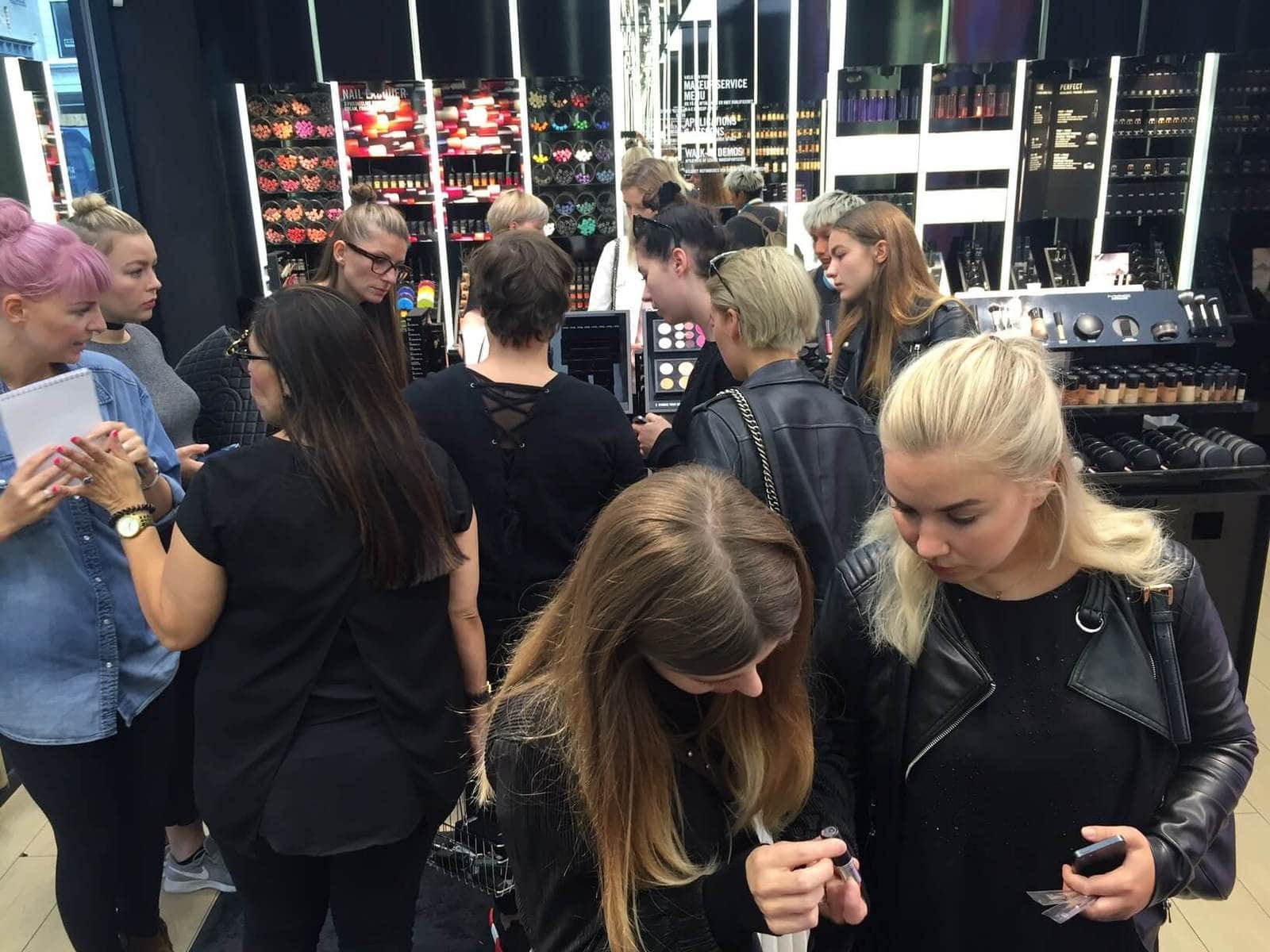 Field trip med make-up skolen, Mac , Sine Ginsborg Hair & Make-Up School, Makeup Uddannelse ,