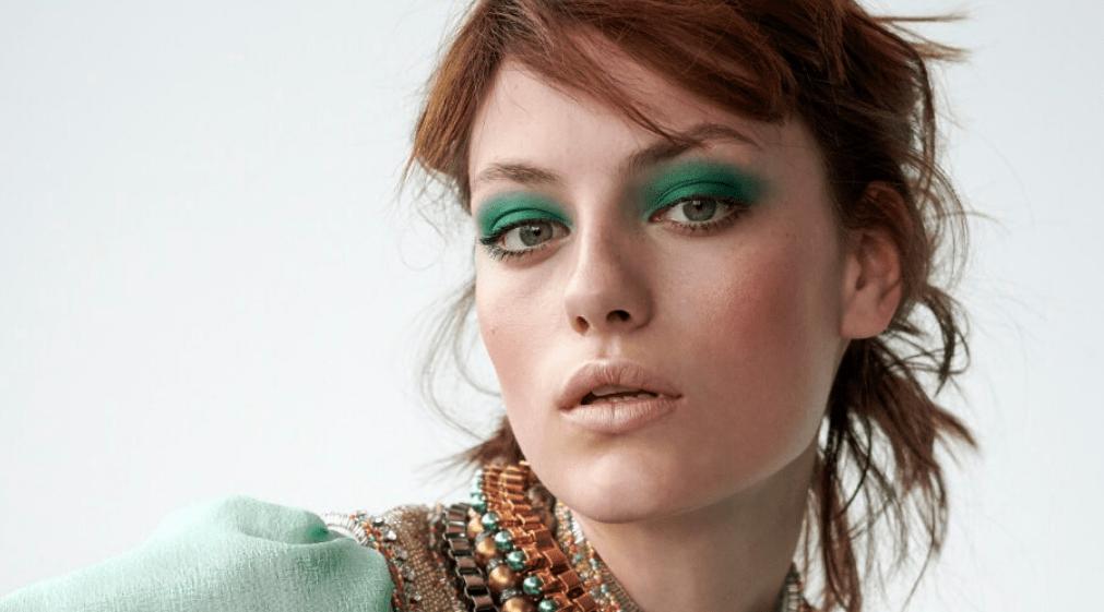 Grøn øjenskygge modelfoto