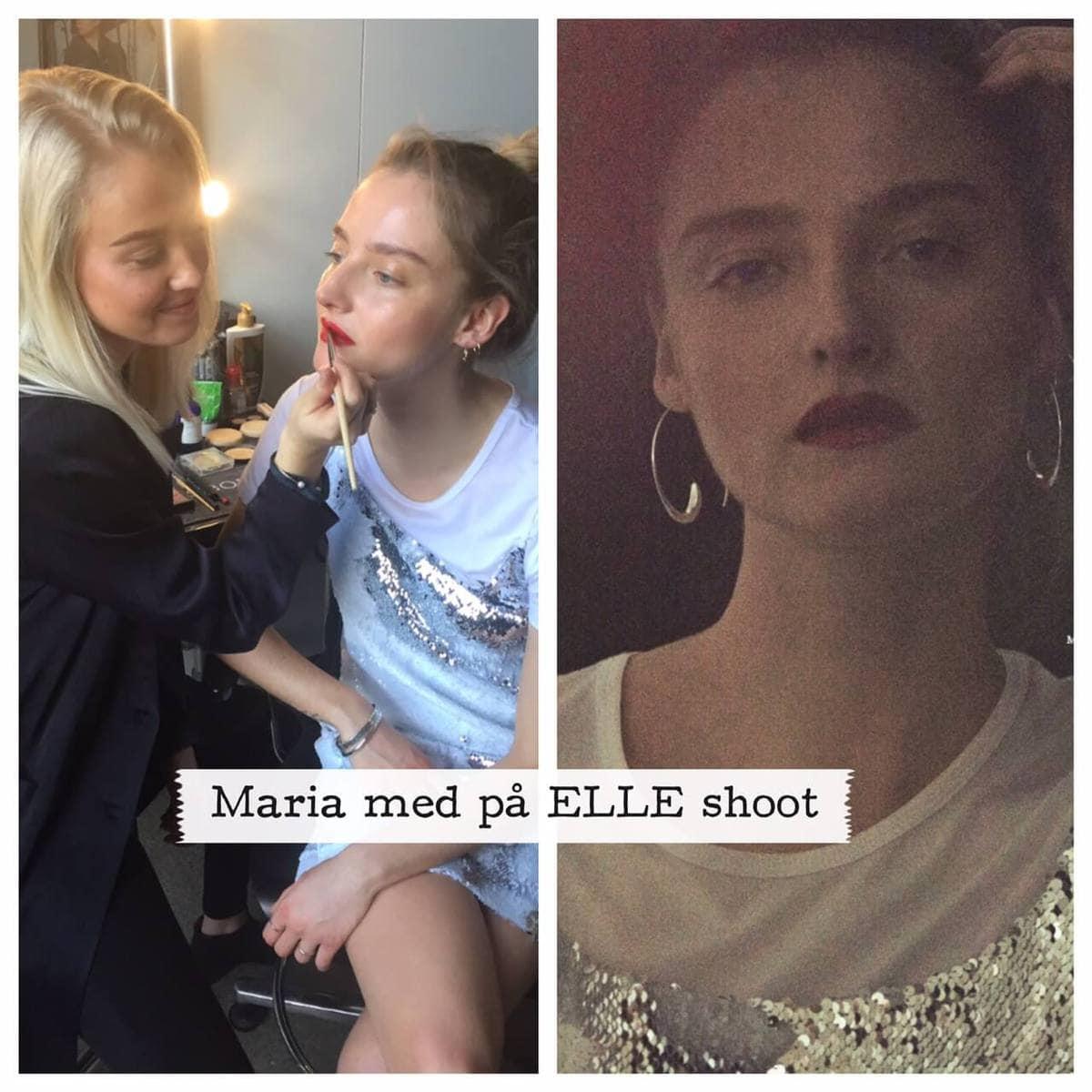 Photo shoot, ELLE, Maria , Makeup uddannelse, Sine Ginsborg Hair & Make-Up School